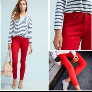 ANTHROPOLOGIE Pants AG Red The Abbey Ankle
